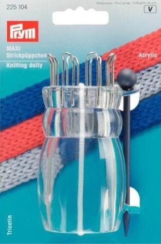 Strickpüppchen Maxi mit Nadel Strickhuber Strickliesel 24 mm