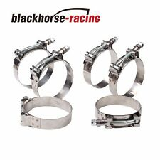 """6PC For 1-3/16'' Hose (1.5""""-1.69"""") 301 Stainless Steel T Bolt Clamps 38mm-43mm"""
