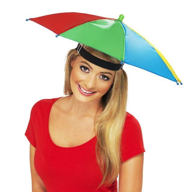 adulti Gadget Cappello Ombrello IMPERMEABILE ARCOBALENO pesca Costume  PIOGGIA 0961f13c88c7