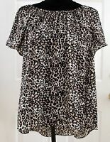 Women's Clothes Vince Camuto Top, Shirt, Blouse, Animal Print, Size S Small