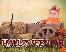 H10 Halloween Exterior Digital Backgrounds Backdrops Children Holiday Baby Photo