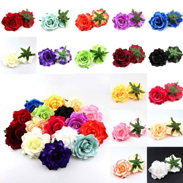 10Pcs Artificial Fake Foam Rose Flower Heads Bulk Wedding Party Decor Purple