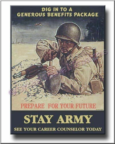 Stay Army Recruiting Poster Canvas