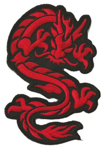 Ecusson brodé thermocollant patche Dragon rouge medium patch