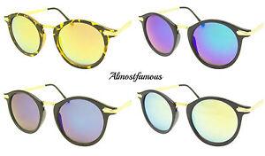 80s-Moda-Retro-gafas-sol-vintage-Lente-Espejada-redondo-buena-calidad-UV400