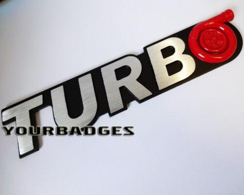 Aluminium brossé Métal Turbo Voiture Badge