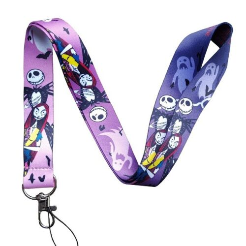 our ref AL0016 Jack and Sally Lanyard Nightmare Before Christmas