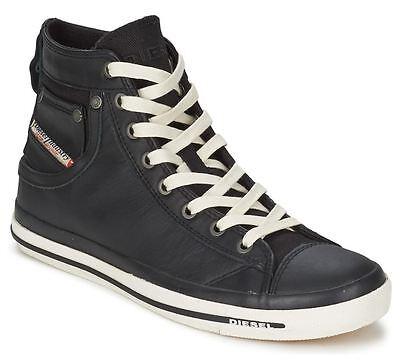 GüNstiger Verkauf Diesel Exposure Iv Schwarz Weiß Neu Damen Leder Hi Top Trainers Schuhe Stiefel Zur Verbesserung Der Durchblutung