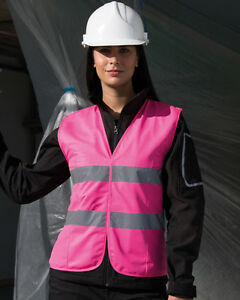 Result-Safe-Guard-Women-039-s-Fit-Hi-Vis-Vest-Ladies-Waistcoat-High-Viz-R334F