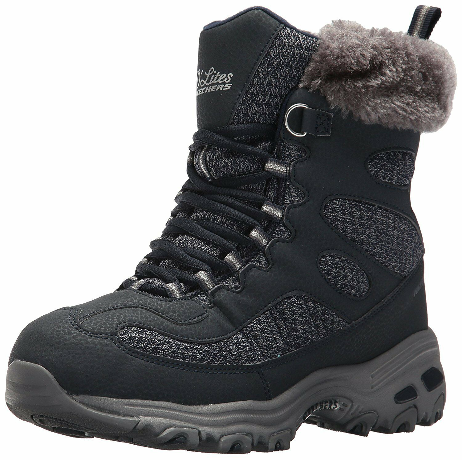 Skechers Women's D'Lites Winter Boot, Navy