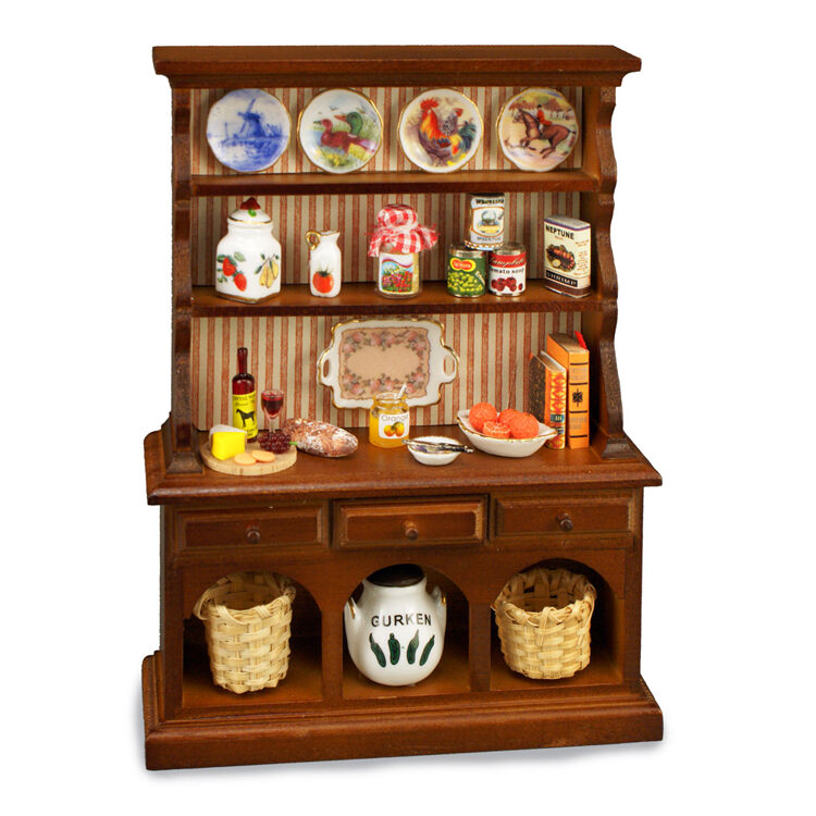 Reutter porcelana de existencias armario Kitchen Hutch w country fixins 1 12 muñecas Tube