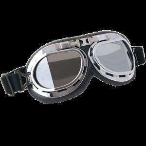 Occhiali Da Casco Moto Scooter Vespa CGM 703V Retro' Silver Lente Specchiata
