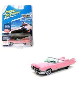 Johnny-Lightning-1-64-1959-Cadillac-Eldorado-descapotable-Diecast-Pink-jlcp-7045