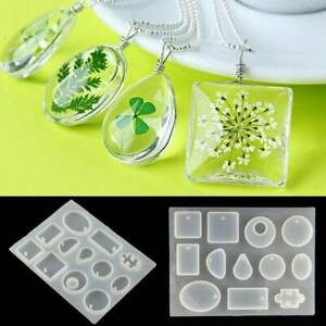 1PC-Silicone-Mould-Pendant-Jewelry-Mold-Craft-DIY-Resin-Round-Making-Necklaces