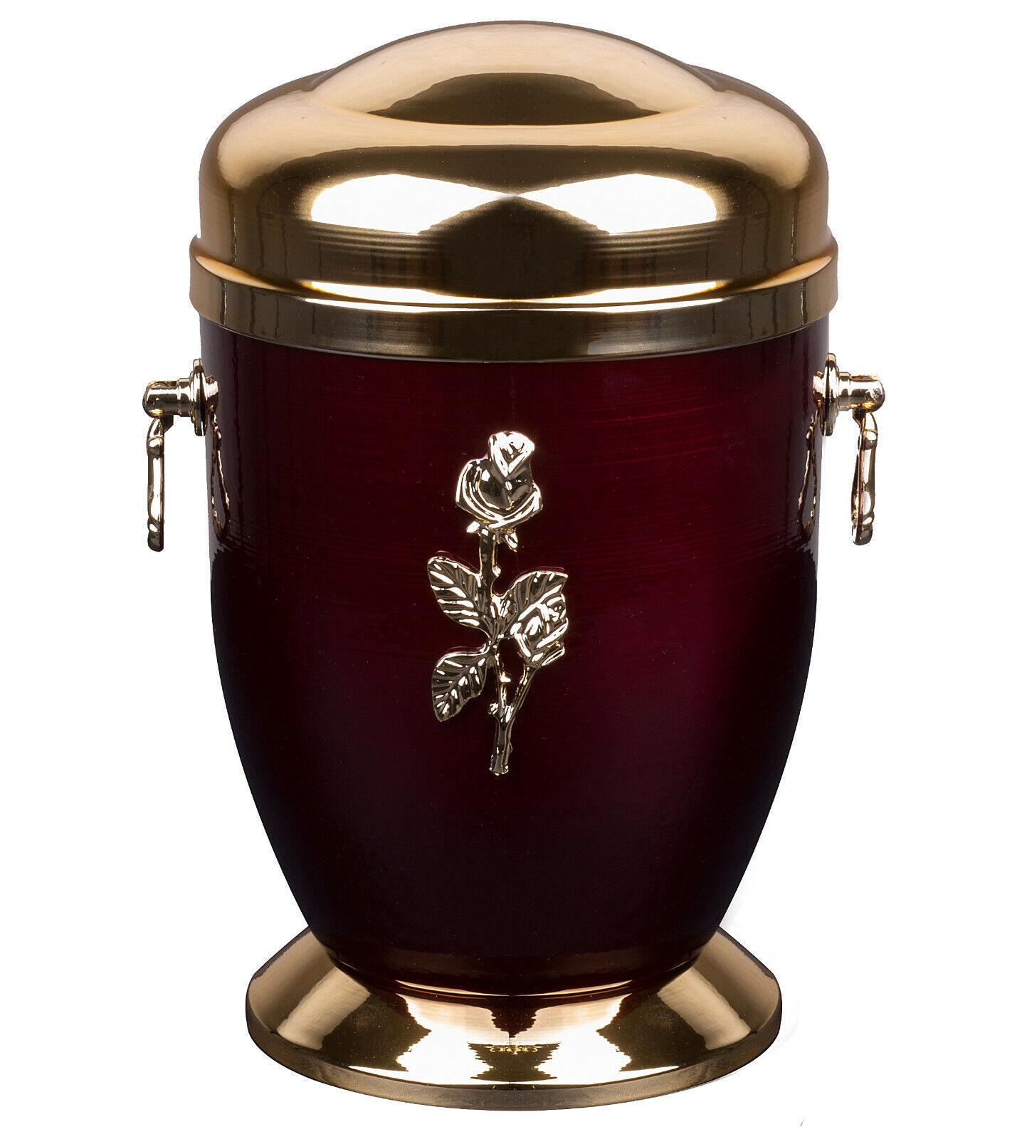 Métal Urne de Crémation pour Adulte Uniques Mémorial Funérailles Humain Ashes (