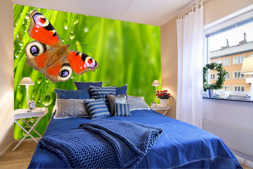 3D Beautiful butterfly1 WallPaper Murals Wall Print Decal Wall Deco AJ WALLPAPER