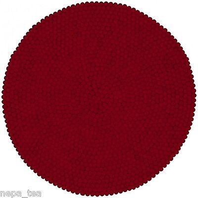 Felt Ball Rug Pom Pom Handmade mat size