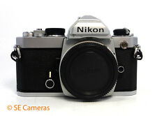 CHROME NIKON FM 35MM FILM CAMERA BODY EXCELLENT CONDITION
