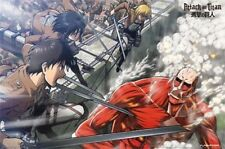 ATTACK ON TITAN BATTLE POSTER 34x22 NEW FUNIMATION JAPANESE ANIME FREE SHIPPING