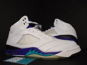2006 Nike Air Jordan V 5 Retro LS WHITE EMERALD GRAPE ICE PURPLE 314259-131 9.5