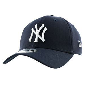 c230487d6cf New Era 39thirty NY New York Yankees Basic League Navy White ...