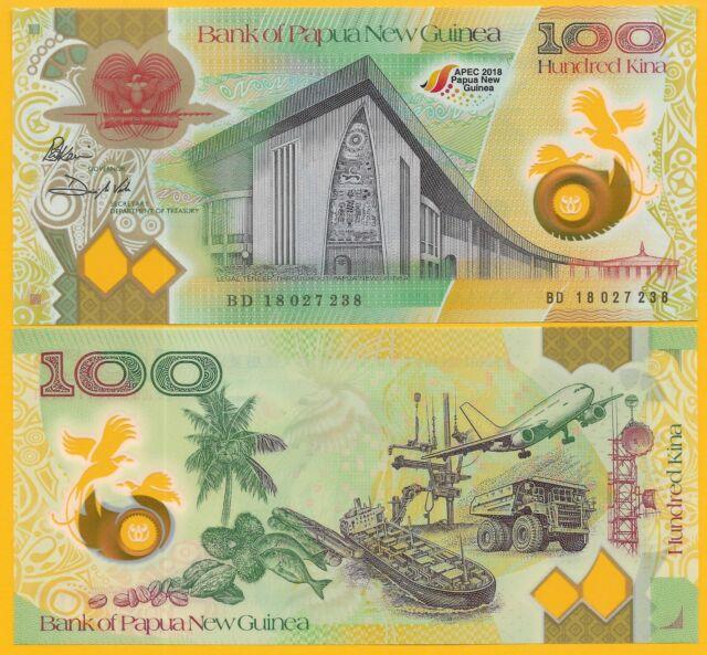 PAPUA NEW GUINEA 100 Kina 2018 APEC Port Moresby P NEW UNC Banknote