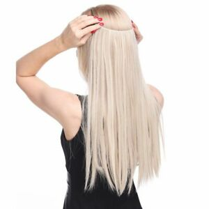 20inch Invisible Wire No Clip One Piece Halo Hair Extension Flip Hairpieces Gift