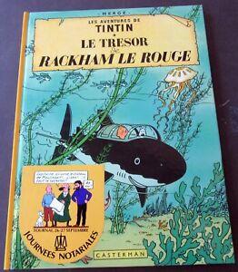 TINTIN-HERGE-LE-TRESOR-DE-RACKHAM-LE-ROUGE-TIRAGE-SPECIAL1985-CAHIER-VENTE-NR