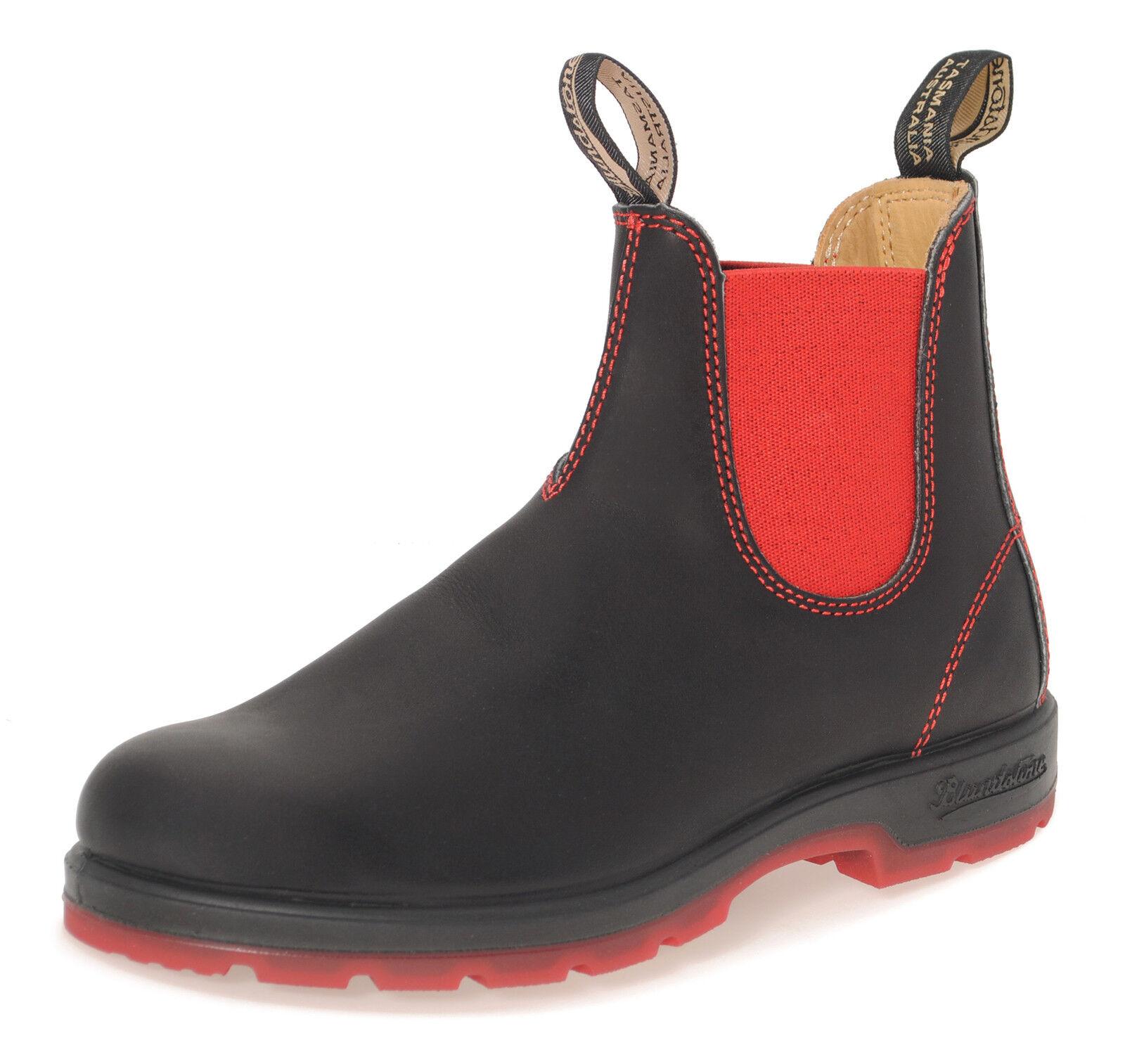 Blundstone Estilo 1316 australiano Chelsea Botas-Negro / Rojo