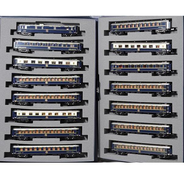 Kato 10-1230 & 10-1231 Orient Express '88 Paris Hong Kong 15 Cars Set - N