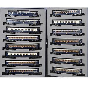 Kato-10-1230-amp-10-1231-Orient-Express-039-88-Paris-Hong-Kong-15-Cars-Set-N