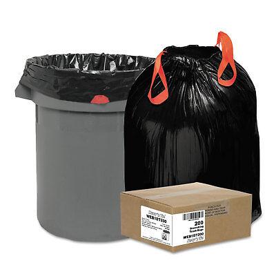 Ambitieus Draw 'n Tie Heavy-duty Bags 30gal 1.2mil 30 1/2 X 33 Black 200/box 1dt200 Eerste Kwaliteit