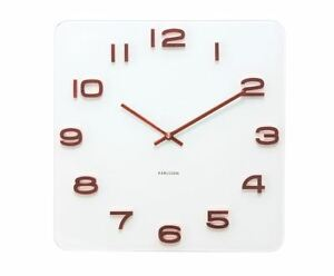 Image Is Loading Karlsson White Vintage Gl Wall Clock Copper Numbers