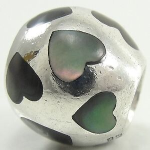 Pandora-Sterling-Silver-Love-Me-Charm-Bead-Black-Mother-of-Pearl-Heart-790398MPB