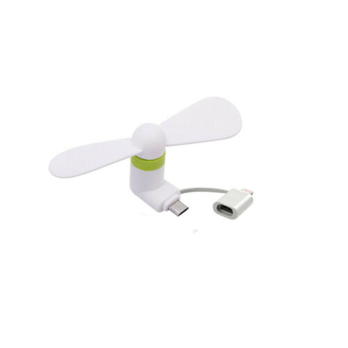 Tragbarer Mini-USB-Lüfter für Android Apple iPhone Combo Handy Mobile Dock Fan y