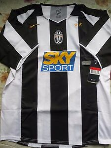 Image is loading BNWT-JUVENTUS-2004-05-Home-Football-Soccer-Jersey-
