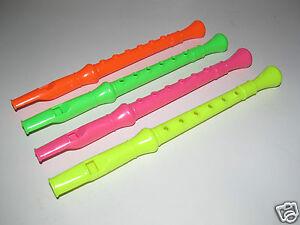 Jeux Jouet Flute en Plastique 24,5 cm 4 Colori au choix