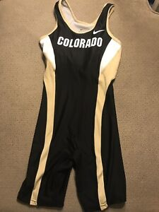 Women-s-Nike-Colorado-Buffalo-Track-amp-Field-Unitard-Running-Singlet-Medium-M