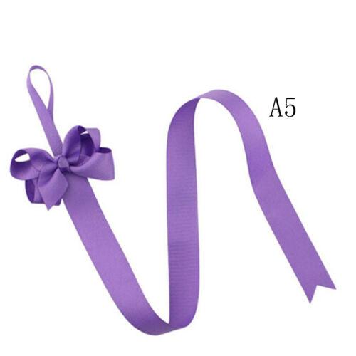 2pc Girls Hair Bow Grosgrain Ribbon Baby Hair Clip Holder Storage Organizer BH