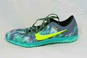 Nike-Rival-XC-Women-039-s-Cross-Country-Track-Spikes-Green-Gray-6-5-MSRP-65-NEW