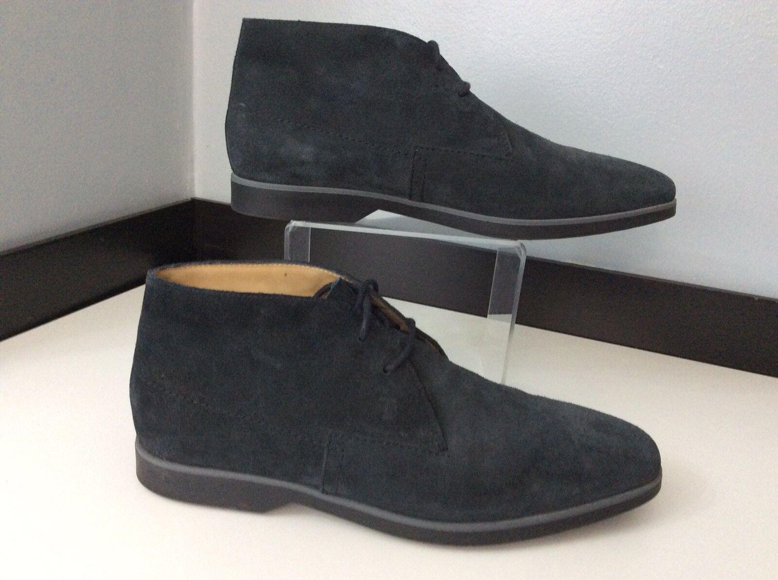 Tods Hombres botas para el desierto, azul Suede Eu40, una vez usado