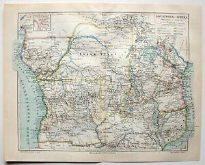 Karte-der-Kolonien-in-Aquatorial-Afrika-Lithographie-um-1895