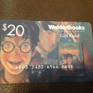 Harry Potter Waldenbooks Gift Card Promo Plastic Mary Grandpre Art ...