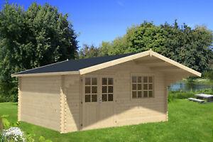 40 mm Gartenhaus 5x4,1 m Gerätehaus Blockhaus Schuppen Holzhaus