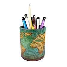 Vintage Pen Pencil Holder Cup Dreamseden Retro Pattern Desk Organizer For Home