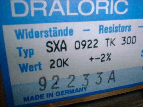 10x 20 kOhm 2/% MOX 4 Watt Widerstand Metalloxid