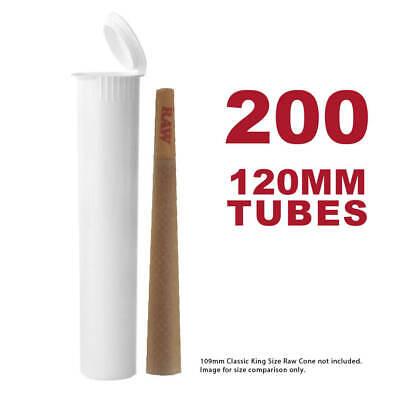 W Gallery 200 116MM White Doob Tubes for Storing King Size Cones from RAW etc.