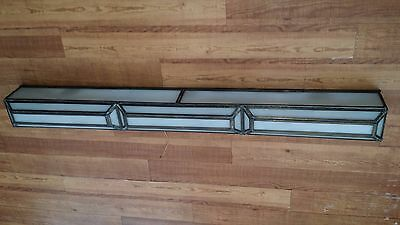 "Antique 47"" Stained Glass Brass Art Deco Column Bar Light Gimbel's Pittsburgh PA"