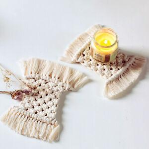 Boho-Makramee-Untersetzer-Handarbeit-Weben-Cotton-Tischset-Deckchen-Table-Dekor