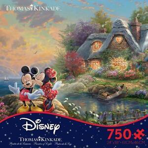 THOMAS KINKADE DISNEY DREAMS PUZZLE MICKEY AND MINNIE 750 PCS #2903-15